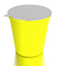 Yellow  container of food Stock Image