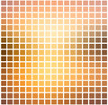 Yellow coral pink black rounded mosaic background over white squ