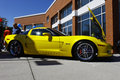 Yellow Corvette Z06 Royalty Free Stock Photos