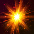 Yellow cosmic vector explode and orange colors Royalty Free Stock Image