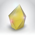 Yellow crystal illustration of a realistic beauty gemstone on a gradient background Royalty Free Stock Images