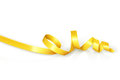 Yellow curled ribbon for party