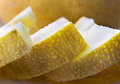 Yellow cut into pieces of melon Royalty Free Stock Photo