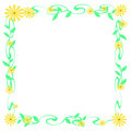 Yellow daisy frame Royalty Free Stock Photography