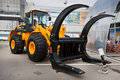Yellow diesel front end loader