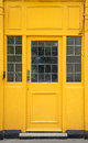 Yellow door Royalty Free Stock Photos