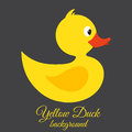 Yellow duck vector background this is file of eps format Royalty Free Stock Photos