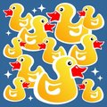Yellow ducks background Royalty Free Stock Photo
