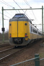 Yellow dutch train Royalty Free Stock Images