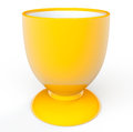 Yellow Egg Cup Royalty Free Stock Image
