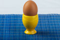Yellow egg cup Stock Photo