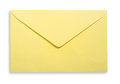 Yellow envelope clipping path excludes the shadow Royalty Free Stock Photo