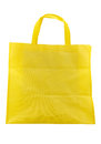 Yellow fabric bag isolated on white background Royalty Free Stock Photo