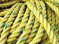 Yellow Fishing Rope Stock Images