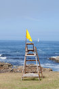 Yellow flag, caution Royalty Free Stock Photo
