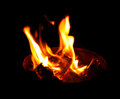 Yellow flame comes out of the container Royalty Free Stock Photo