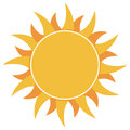 Yellow flat abstract sun burst icon isolated on white background