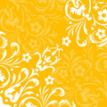 Yellow flourish background Royalty Free Stock Images