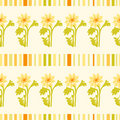 Yellow flower and stripes pattern Stock Image