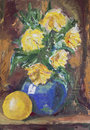Yellow Flowers Bouquet painting Stock Images