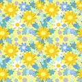 Yellow flowers seamless pattern Royalty Free Stock Image