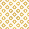 Yellow flowers seamless pattern. Vector geometric abstract floral ornament
