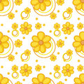 A yellow flowery design Royalty Free Stock Photo