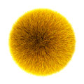 Yellow fluffy ball Stock Image
