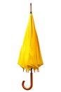 Yellow folded umbrella Royalty Free Stock Photo