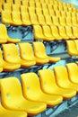 Yellow football seats Royalty Free Stock Photo