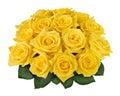Yellow f�r bukettutklipprose Arkivfoto