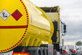 Yellow fuel tank Royalty Free Stock Photo