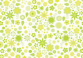 Yellow funky flowers and leaves retro pattern Stock Image