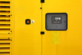 Yellow generator industry background electric equipment Stock Image