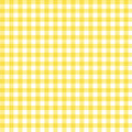 Yellow Gingham Fabric Background Stock Photo