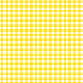 Yellow gingham pattern with sunrise design Stock Images