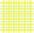 Yellow Gingham plaid Royalty Free Stock Photos