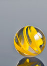 Yellow glass marble Royalty Free Stock Photo