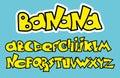 Yellow Graffiti Font Alphabet. Vector letters design.