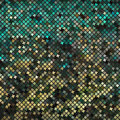 Yellow-green abstract mosaic background