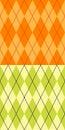 Yellow and green argyle Stock Photos
