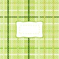 Yellow green checkered pattern with sticker Royalty Free Stock Photo
