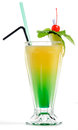 Yellow green cocktail Royalty Free Stock Photo