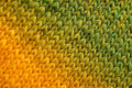 Yellow and green diagonal stockinette stitch background Royalty Free Stock Photo