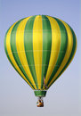 Yellow and Green Hot Air Balloon Stock Photos