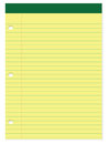 Yellow and green notepad selection of office of paper vector illustration Royalty Free Stock Photos
