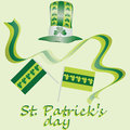 Yellow-green set for St. Patrick`s Day. Vector design elements set. Festival st patrick day icons shamrock lucky spring. happy cel