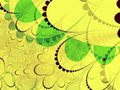 Yellow and green shapes Royalty Free Stock Photo