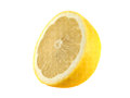 yellow half of lemon (sliced). Royalty Free Stock Photo
