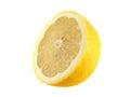 yellow half of lemon (sliced). Royalty Free Stock Photo
